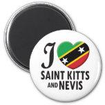 Saint Kitts and Nevis Love Fridge Magnets