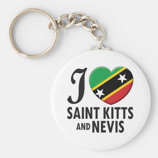 Saint Kitts and Nevis Love Keychains