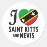 Saint Kitts and Nevis Love Round Sticker