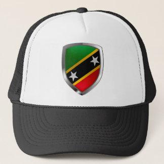 Saint Kitts and Nevis Metallic Emblem Trucker Hat