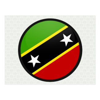 Saint Kitts And Nevis quality Flag Circle Post Card