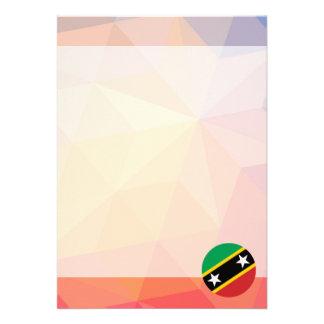 "Saint Kitts and Nevis Souvenir 5"" X 7"" Invitation Card"