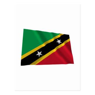 Saint Kitts and Nevis Waving Flag Postcard