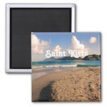 Saint Kitts Beach 2 Inch Square Magnet