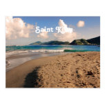 Saint Kitts Beach Postcard