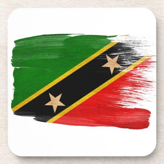 Saint Kitts Nevis Flag Beverage Coaster