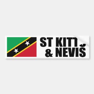 Saint Kitts & Nevis Flag Bumper Sticker
