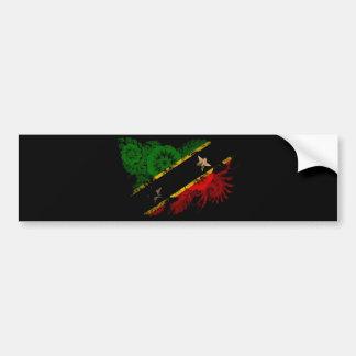 Saint Kitts Nevis Flag Car Bumper Sticker