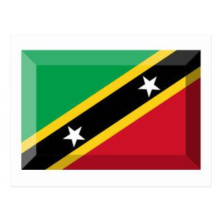 Saint Kitts & Nevis Flag Jewel Postcard