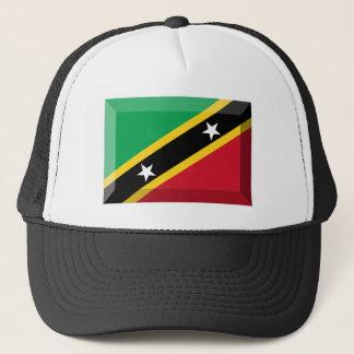Saint Kitts & Nevis Flag Jewel Trucker Hat