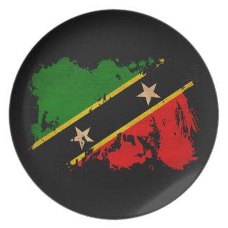 Saint Kitts Nevis Flag Plates