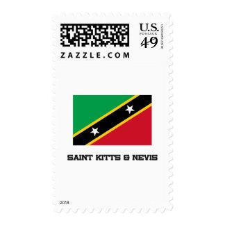 Saint Kitts & Nevis Flag Stamps