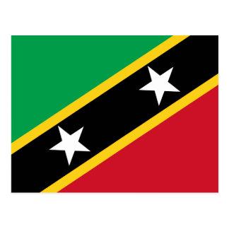 Saint Kitts & Nevis Flag Postcard