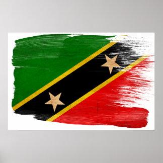Saint Kitts Nevis Flag Posters