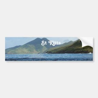 Saint Kitts Views Car Bumper Sticker