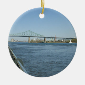 Saint Laurent River, Montreal Ceramic Ornament