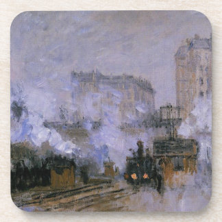 Saint-Lazare Station, Arrival of a Train by Claude Drink Coaster