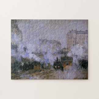 Saint-Lazare Station Arrival Train Monet Fine Art Jigsaw Puzzle