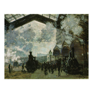 Saint Lazare Station by Claude Monet Flyer