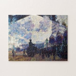 Saint-Lazare Station, Exterior View Claude Monet Jigsaw Puzzle
