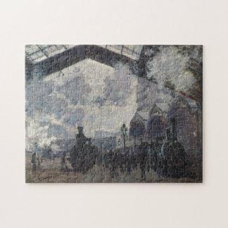 Saint-Lazare Station Monet Fine Art Jigsaw Puzzle