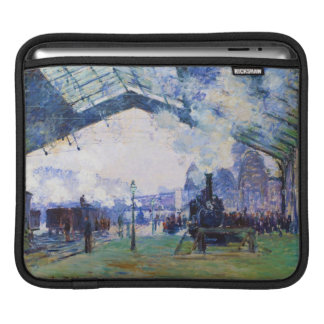 Saint-Lazare Station, Normandy Train, Claude Monet iPad Sleeves