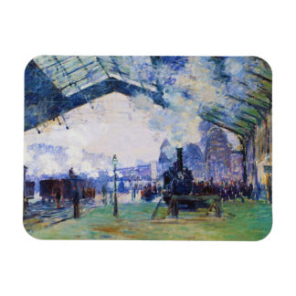 Saint-Lazare Station, Normandy Train, Claude Monet Magnet