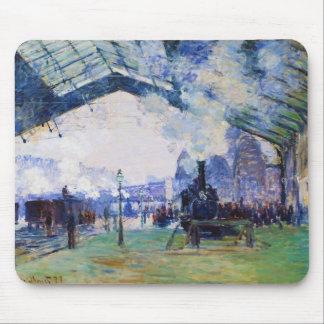 Saint-Lazare Station, Normandy Train, Claude Monet Mouse Pad