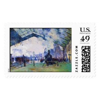 Saint-Lazare Station, Normandy Train, Claude Monet Postage Stamp