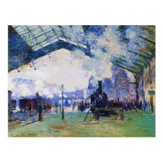 Saint-Lazare Station, Normandy Train, Claude Monet Post Cards