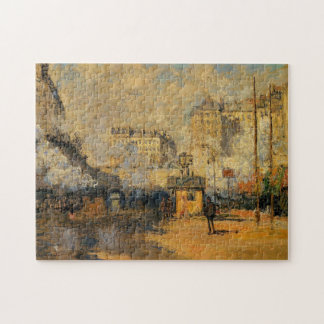 Saint-Lazare Station Sunlight Effect Monet Fine Jigsaw Puzzle