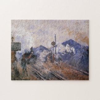 Saint-Lazare Station Train Coming Out Monet Fine Jigsaw Puzzle