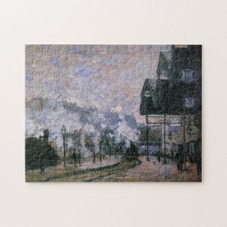 Saint-Lazare Station Western Sheds Monet Fine Art Jigsaw Puzzle
