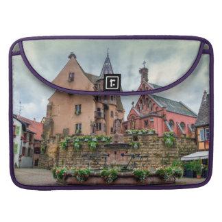 Saint-Leon fountain in Eguisheim, Alsace, France Sleeve For MacBooks