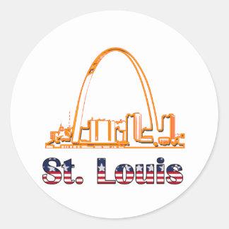 Saint Louis Arch Round Stickers