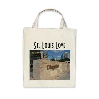 Saint Louis City Garden - St. Louis Love Canvas Bag