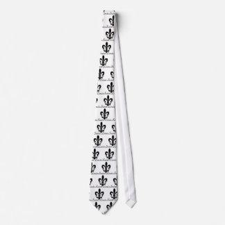 Saint Louis Fleur De Lis Logo Neck Tie