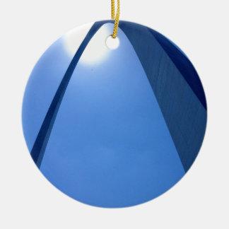 Saint Louis Gateway Arch Double-Sided Ceramic Round Christmas Ornament