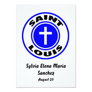 """Saint Louis Invite 5"""" X 7"""" Invitation Card"""