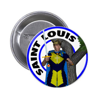 Saint Louis IX King of France 2 Inch Round Button
