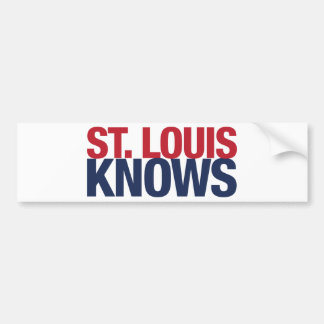 Saint Louis Knows Bumper Sticker