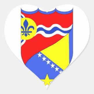 Saint Louis Missouri & Brcko Bosnia heart sticker
