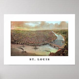 Saint Louis Missouri del vintage Póster
