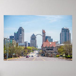 Saint Louis, Missouri skyline Poster