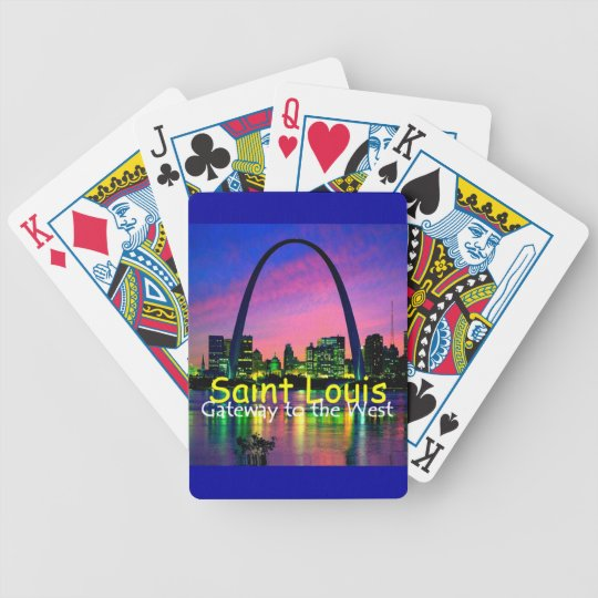 Saint Louis MO Bicycle Playing Cards