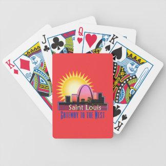 Saint Louis MO Bicycle Playing Cards