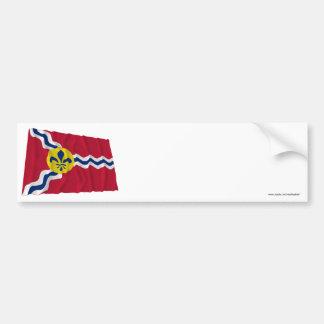 Saint Louis que agita la bandera Pegatina Para Auto