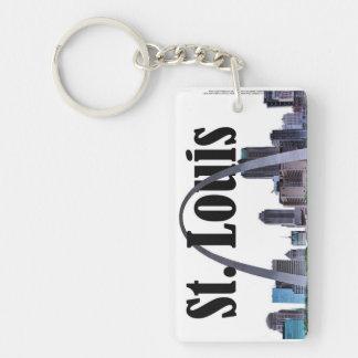 Saint Louis Skyline with St. Louis in the Sky Keychain