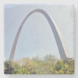 Saint Louis, St. Louis Arch, Marble Coaster. Stone Coaster