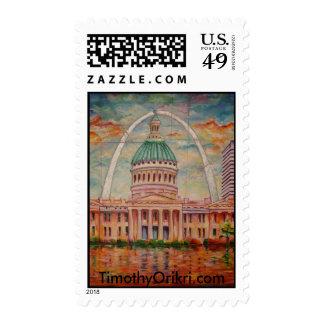 Saint Louis Stamp by Timothy Orikri Stamps